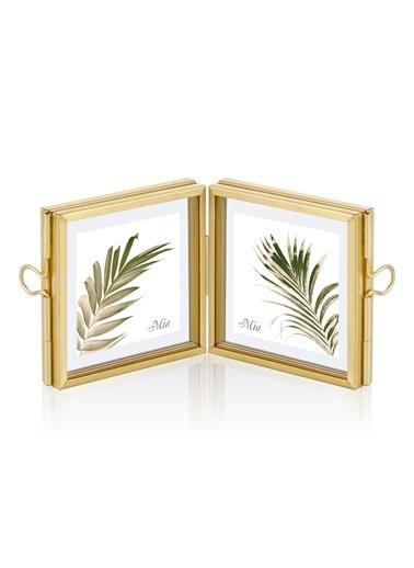 The Mia Brass Çerçeve 12 x 6 Cm Altın